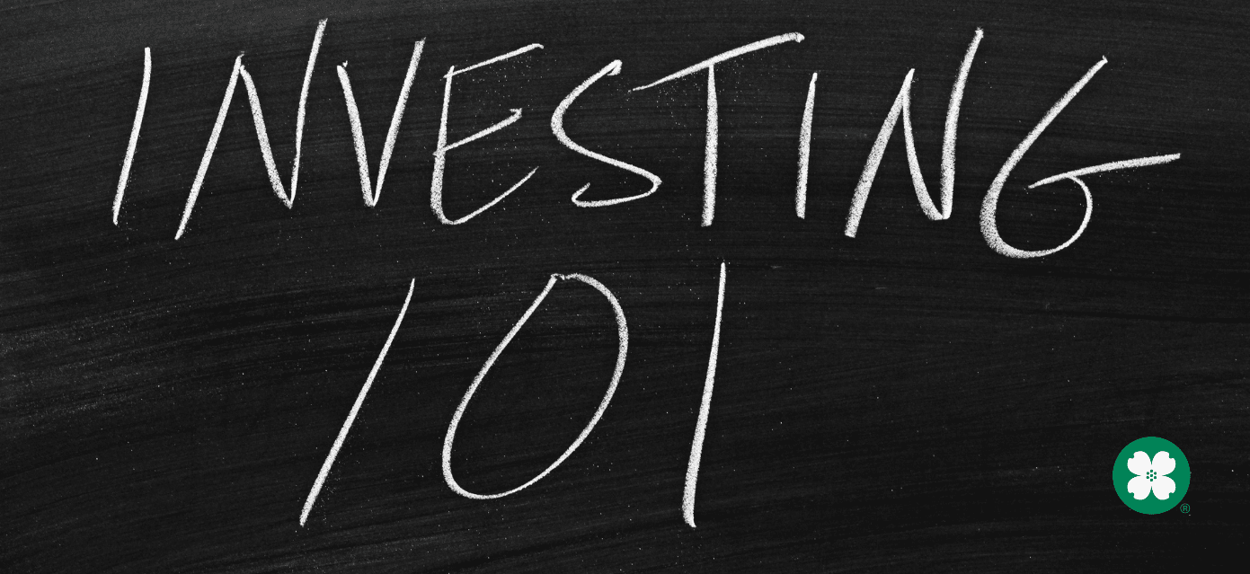 Investing 101 written on a chalk board
